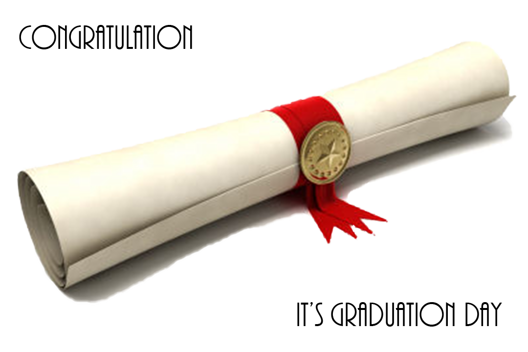 Congratulation, it's your graduation day